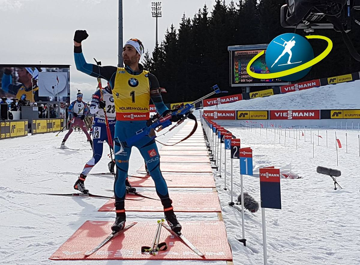 Mass start and 14th win of the season for Martin Fourcade; clean shooting brings him across the finish line in 37:32.2. Second with a career best first podium Andrejs Rastorgujevs, with two penalties, 17.4 seconds back and third to Simon Eder, with one pe