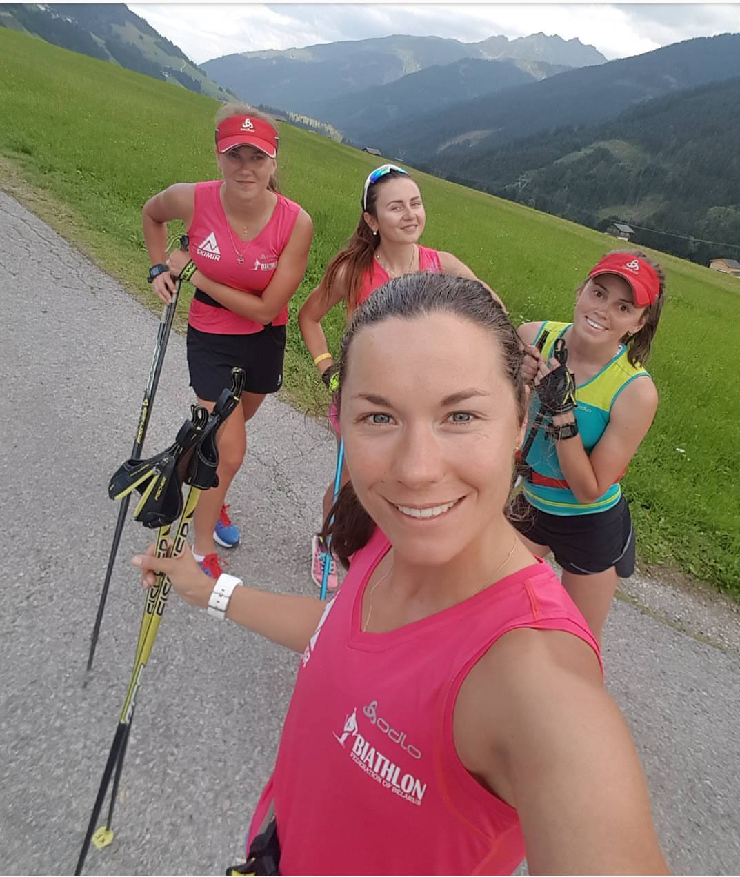 It is all smiles from Nadezhda Skardino and her teammates, enjoying the mountains and nice weather in Obertilliach. Read about mid-summer training in our story below...and smile like these ladies; enjoy your weekend! ?Nadezhda Skardino
