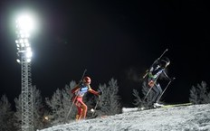 Unidentified athletes compete during the Women's Biathlon 15km individual race on December 1, 2010 in Oestersund, Sweden. Swedish Anna-Carin Zidek won the race.