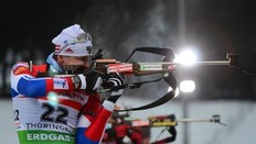 CORRECTION (correcting name) — Russia's Ivan Tcherezov competes to place third in the men's 15 km mass start event of the IBU biathlon World Cup in the eastern German town of Oberhof on January 9, 2011. Norway's Tarjei Boe won the competition ahead of Norway's Emil Hegle Svendsen (2nd) and Russia's Ivan Tcherezov (3rd).