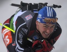 Michael Greis of Germany comepetes to take place 11 in the men's 10 km sprint event of the IBU biathlon World Cup in the eastern German town of Oberhof on January 7, 2011. Tarjei Boe of Norway won the race ahead of Arnd Peiffer (2nd) of Germany and Michal Slesingr (3rd) of the Czech Republic.