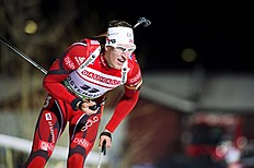 Norway's Lars Berger Competes