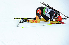 Germany's Arnd Peiffer React