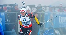 Oberhof (Germany), 05/01/2013.- German biathlete Andrea Henkel competes in the sprint event of the women's biathlon world cup at DKB Ski Arena...