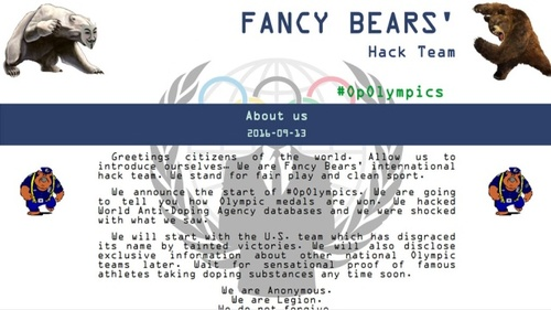 Microsoft проинформировала о кибератаках Fancy Bear наантидопинговые организации
