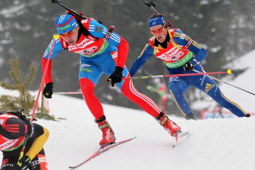 Россиянин Цветков стал вторым в спринте по биатлону