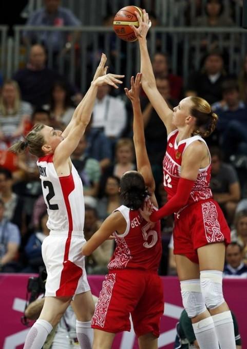 Баскетболистки австралии и сша
