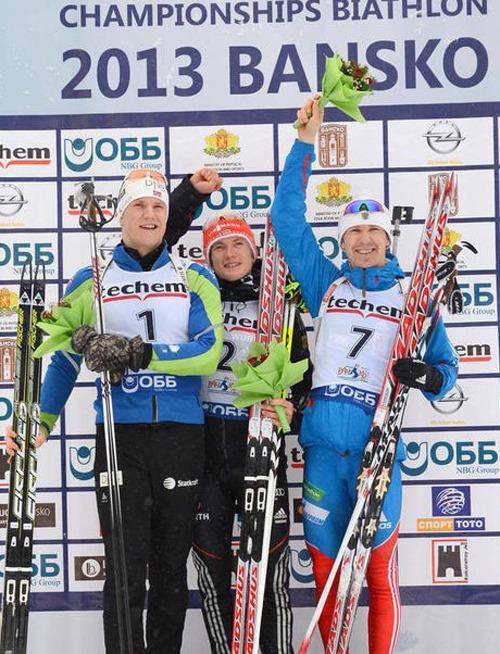 Тимофей Лапшин 3-ий в гонке преследования на Чемпионате Европы по биатлону. Победа у Бенедикта Доль