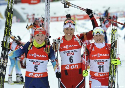 По биатлону 2013 2014 три россиянки в